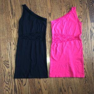 Women's lot of 2 BEBE bodycon mini dresses. Small
